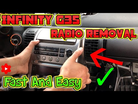Infiniti G35 radio removal fast and easy