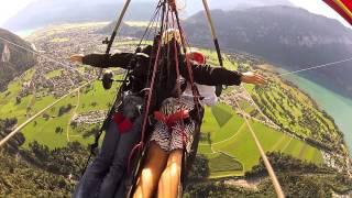 Hang Gliding The Swiss Alps In Interlaken Switzerland