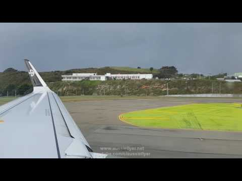 Air New Zealand A320 ✈ Stormy Weather Wellington to Auckland NZ446