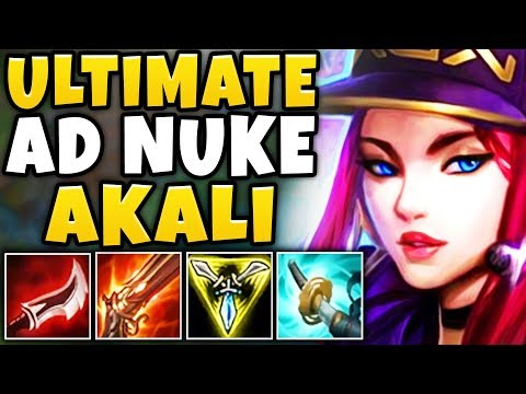WTF?! *NEW* AD ONE-SHOT AKALI BUILD IS INSANELY OP! - NO ONE CAN FIGHT THIS! - League of Legends