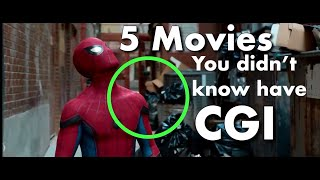 5 movies you didn't know have CGI