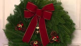 Del. Week 12/15 Fresh Balsam Jingle Bell Wreath with Mary Beth Roe