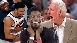 bro... LMFAO I\'M NEVER TRASH TALKING AGAIN! NUGGETS vs SPURS GAME 1 & 2 NBA PLAYOFFS HIGHLIGHTS