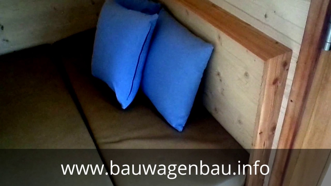 innenausbau f r schlafen essen im tiny house youtube. Black Bedroom Furniture Sets. Home Design Ideas