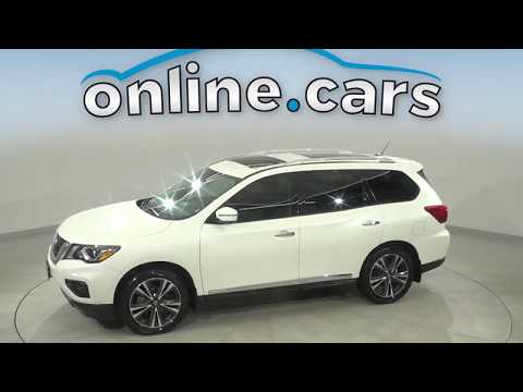 C15664RT Used 2017 Nissan Pathfinder Platinum Navigation 4WD White SUV Test Drive, Review, For Sale