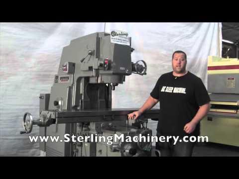 """15"""" x 68"""" Used Heavy Duty Kearney & Trecker Vertical Milling Machine #A2745"""