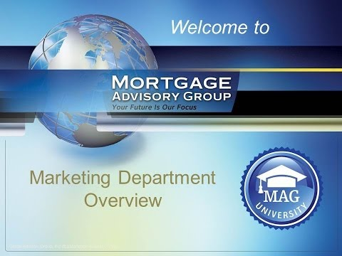 MAG Marketing Department Overview