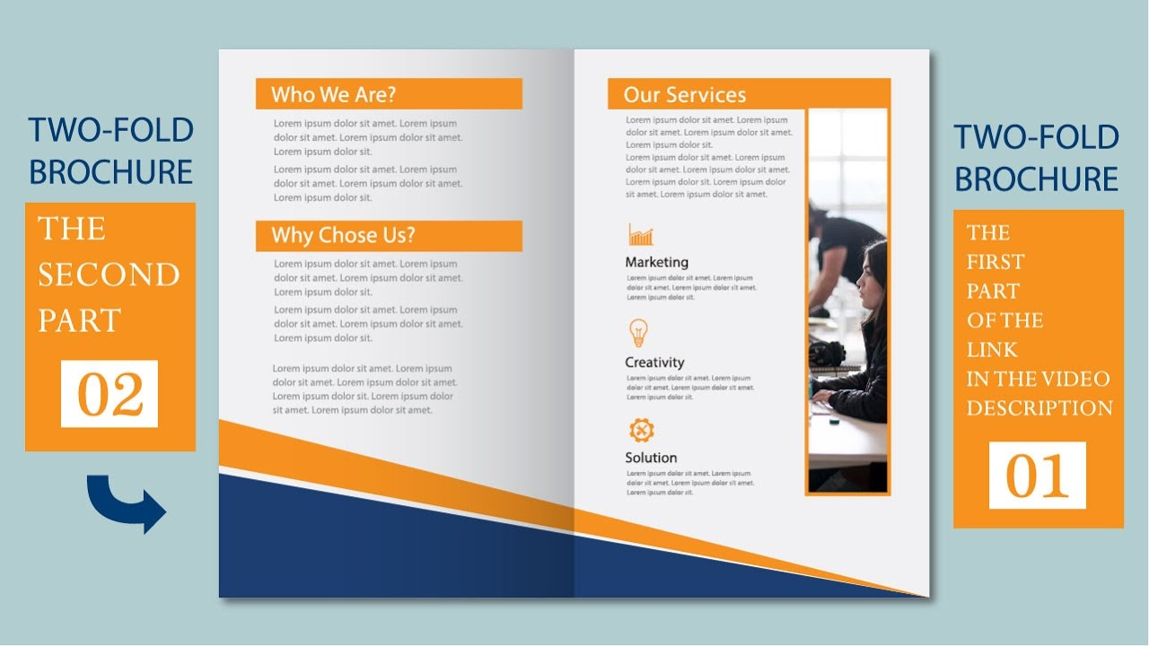 two fold brochure template - illustrator tutorial two fold business brochure template