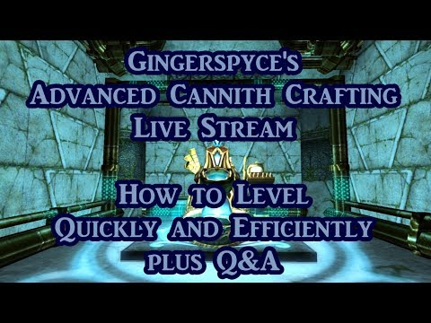 Cannith Crafting - How to level quickly and efficiently plus Q&A live stream