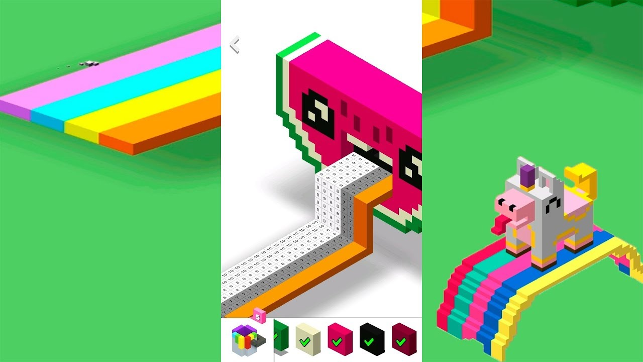 Color by Number 3D Voxly - Unicorn Pixel Art (iPad, iPhone, Android ...