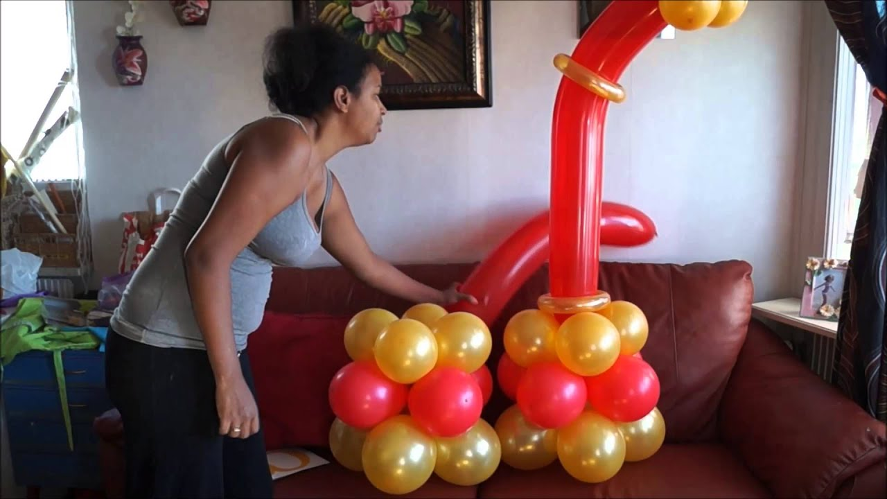 Columna en globo para fiesta de adulto youtube - Decoracion fiesta adultos ...