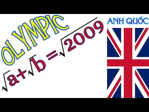 TTV: Đề thi Olympic Anh Quốc năm 2009! Bạn có thể tìm ra đáp án. Bài toán khó và hay.