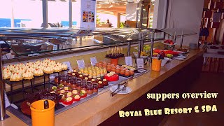 4K обзор ужинов в ресторане Symposium отеля Royal Blue Resort SPA Панормо Ретимно Крит Греция