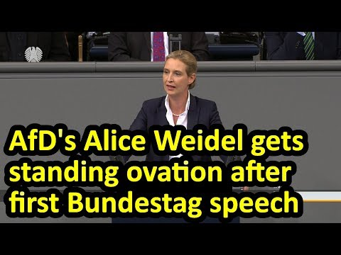 (English Subtitles) AfD's Alice Weidel delivers 5 minute tour de force in maiden Bundestag speech