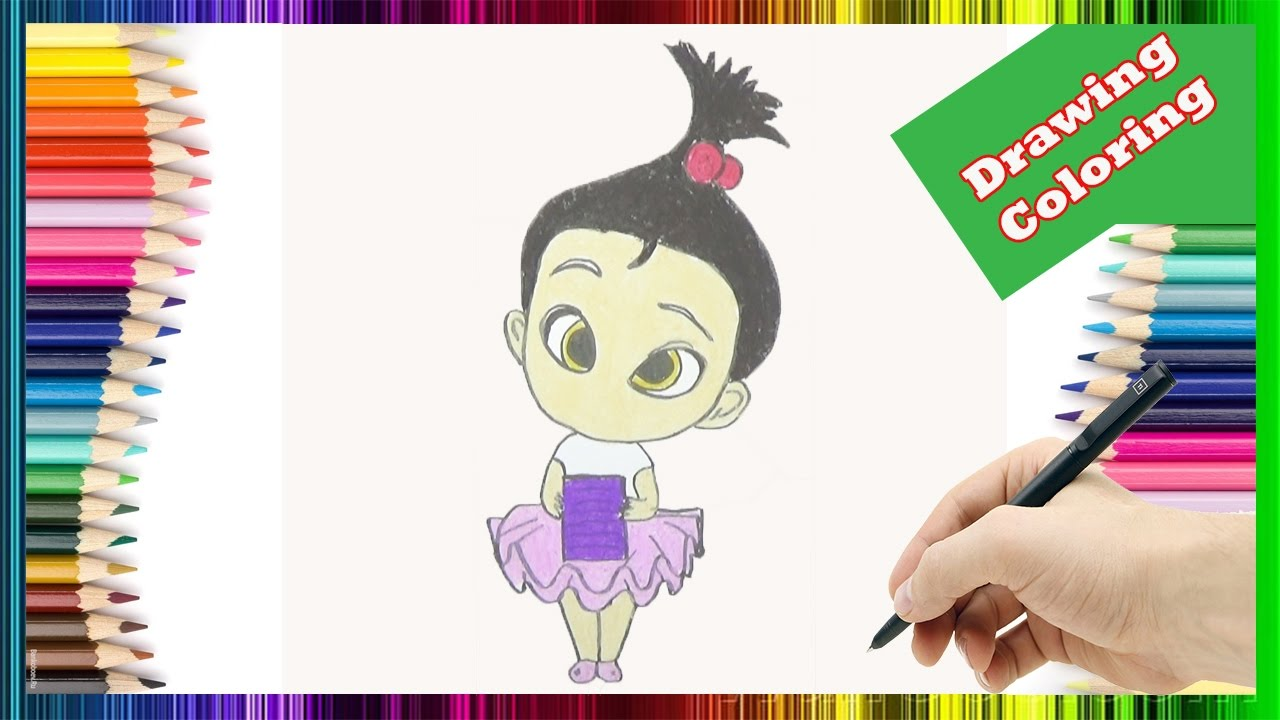 How To Draw And Color Staci In The Boss Baby Movie The Boss Baby