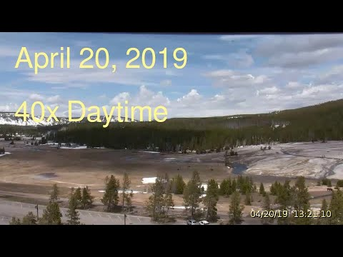 April 20, 2019 Upper Geyser Basin Daytime Streaming Camera Captures