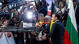 Déclaration du Président Emmanuel Macron à l'arrivée au Conseil européen
