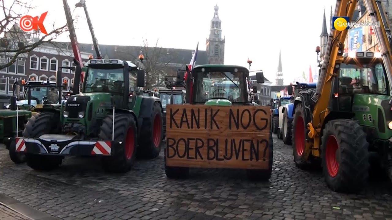 Boerenprotest in Gouda