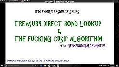 Treasury Direct bond lookup & the fucking CUSIP algorithm!!!! IMF Family Resource Series