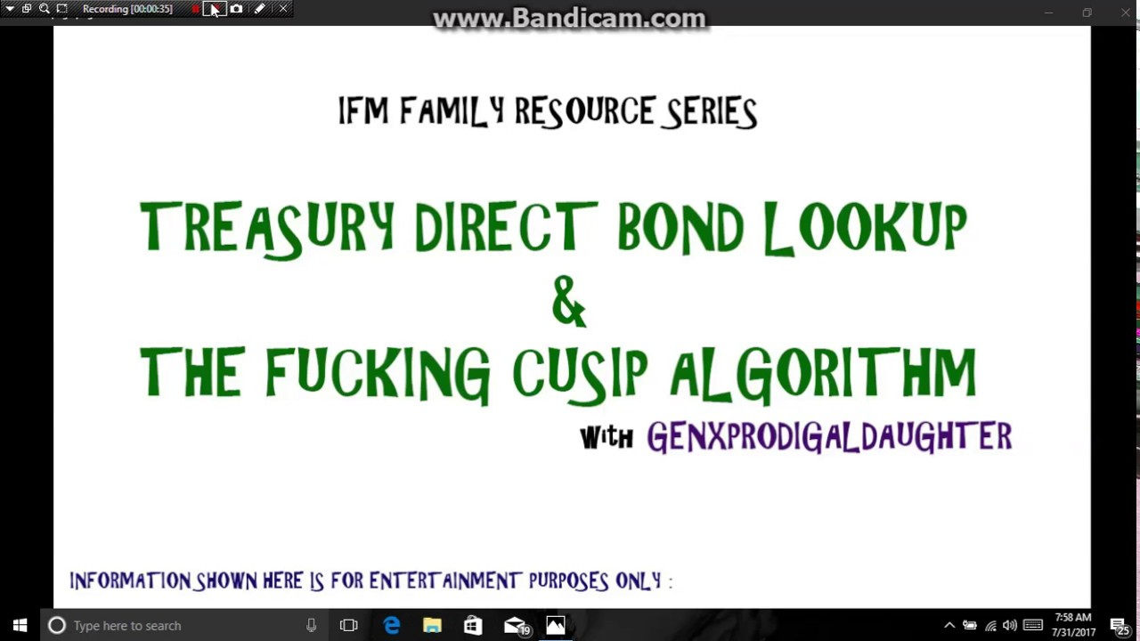 Treasury Direct Bond Lookup The Fucking Cusip Algorithm Imf