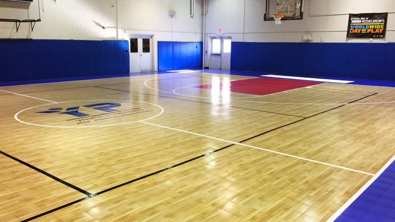 Indoor Basketball Court Line Painting Youtube