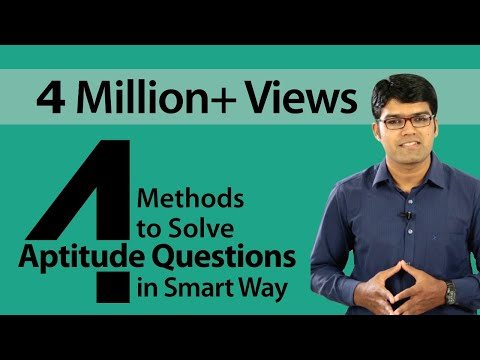 4 Methods to solve Aptitude Questions in smart way || Banking Careers