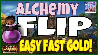 WoW 6.2.2 Alchemy Easy Fast Gold Flip Guide - Tons of Easy Gold - WoD
