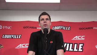 Louisville coach David Padgett after win over Albany