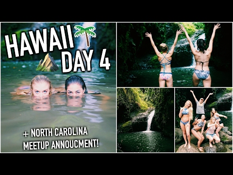Sneaking Into a Waterfall & Almost Dying + NC MEETUP! - HAWAII DAY 4