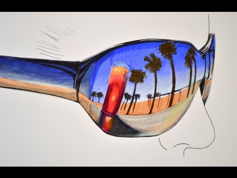 How to Draw a Reflection on Sunglasses