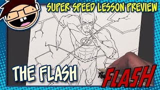 Lesson Preview: How to Draw THE FLASH (Comic Version) | Super Speed Time Lapse Art