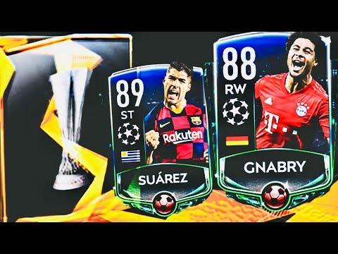 WE GOT MOTM ELITE ! 89 OVR MOTM SUAREZ AND GNABRY IN FIFA MOBILE 20 / Europa league campaign packs