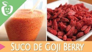 Suco de Goji Berry - Emagrecer Certo