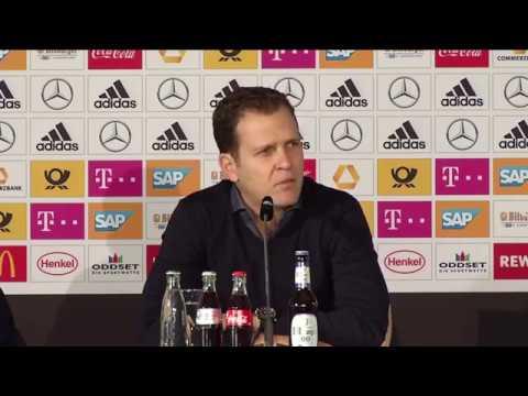 DFB Pressekonferenz mit Niklas Süle, Mario Götze & Oliver Bierhoff 08.11.17