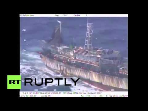 "Argentina: Coast guard sinks ""illegal"" Chinese fishing vessel"
