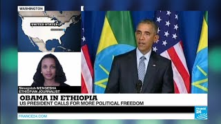 "Obama in Ethiopia: ""the US president"
