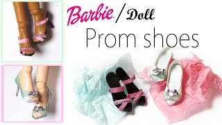 How to; Doll / Barbie shoes Tutorial - Doll Prom Shoes