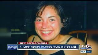 Attorney General to appeal ruling in Myers case