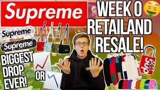 INSANE SUPREME WEEK 0 RETAIL AND RESALE PRICES! | BIGGEST DROP EVER! | MOST HYPED ITEMS!