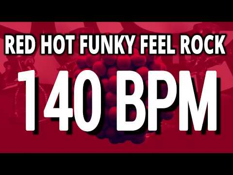 140 BPM - Red Hot Funky Feel Rock - 4/4 Drum Track - Metronome - Drum Beat