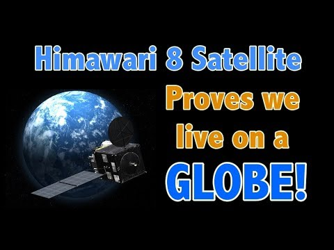 The Himawari 8 Satellite proves we live on a globe!
