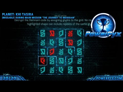 Mass Effect Andromeda - All Glyph Puzzle Solutions & Locations (Cryptographer Trophy Guide)