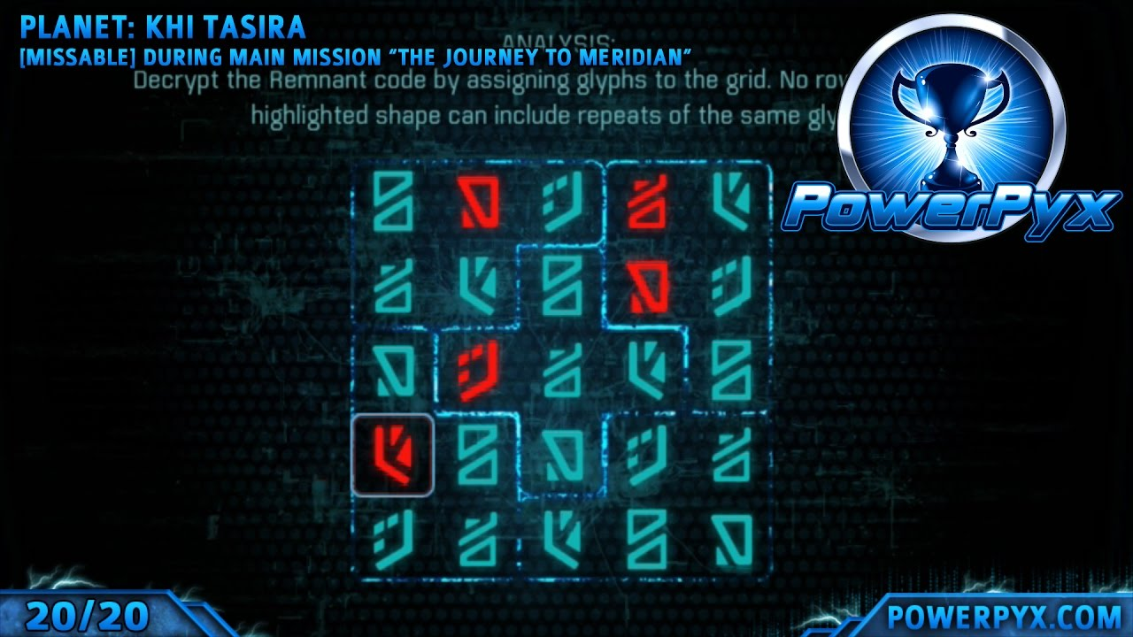 <b>Mass Effect Andromeda</b> - All Glyph Puzzle Solutions &amp; Locations ...