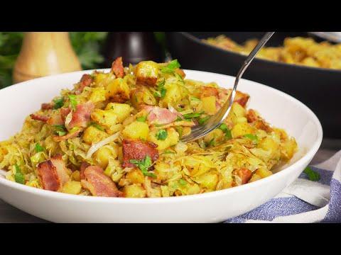 3 ингредиента для восхитительного блюда! Жареный картофель с капустой и беконом от Всегда Вкусно!