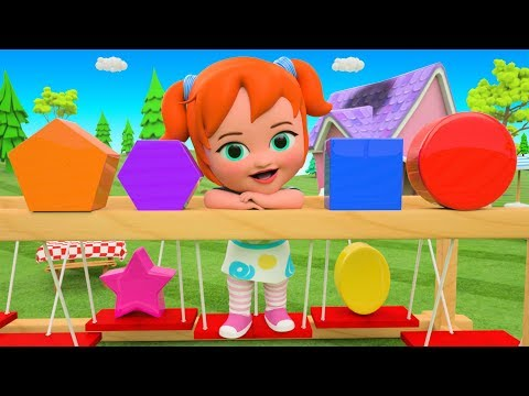 Learn Shapes & Colors for Children with Litttle Baby Play Balance Shapes Toy Set for Kids 3D Fun Edu