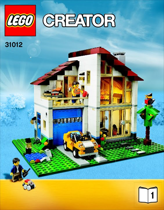31012 Family House Lego Creator 14 Youtube