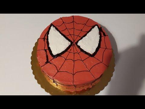 Spiderman pastası, Örümcek adam pastası, spiderman cake, spiderman tortu, Pratik yemek tarifleri