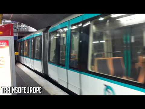 RATP MF 88 leaves Louis Blanc! [HD]