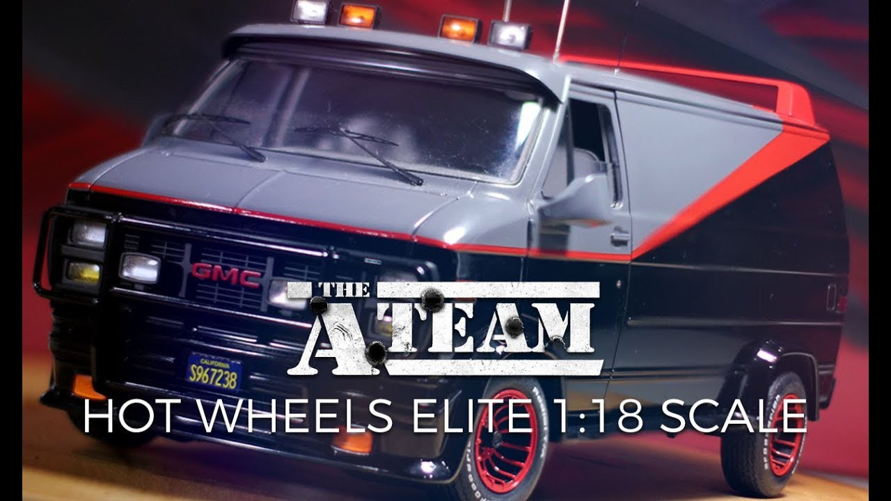 hot wheels elite a team van 1 18 scale diecast youtube. Black Bedroom Furniture Sets. Home Design Ideas