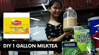 DIY AFFORDABLE 1 GALLON MILKTEA